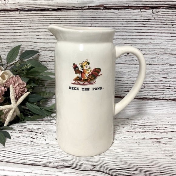 Rae Dunn Deck The Paws Artisan Collection Pitcher